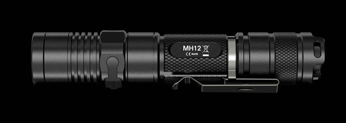 Nitecore mh12 1000 lumen usb rechargeable led flashlight.